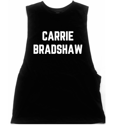 "Sex And The City ""Carrie Bradshaw"" Unisex Low Armhole Muscle Tank"