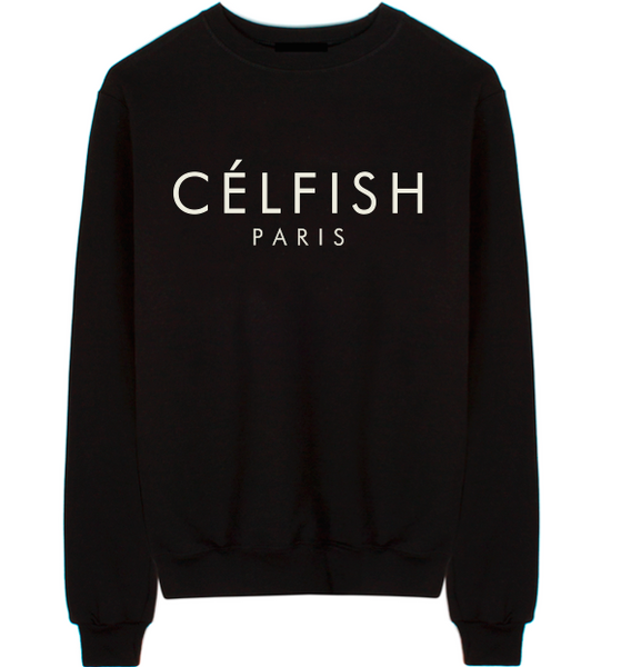 Célfish Unisex Crew Neck Sweatshirt