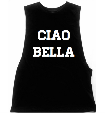 Ciao Bella Unisex Low Armhole Muscle Tank