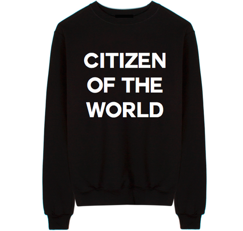 Citizen Of The World Unisex Crew Neck Sweatshirt