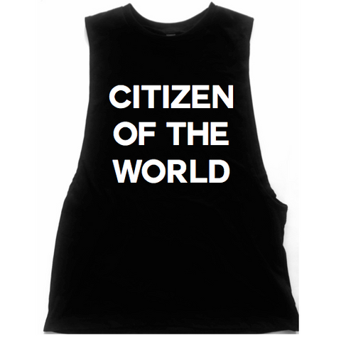 Citizen Of The World Unisex Low Armhole Muscle Tank