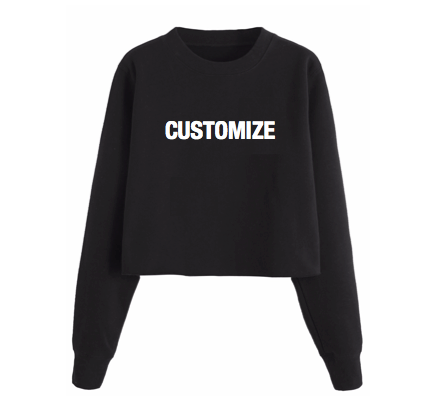 Personalized Cropped Sweatshirt (Large Front Print)
