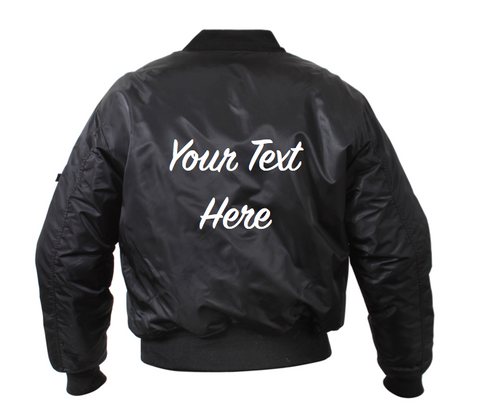 Kids Personalized Custom Bomber Jacket (Front and Back Embroidery)