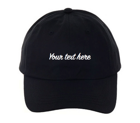 Personalized Custom Dad Hat (Black or White)