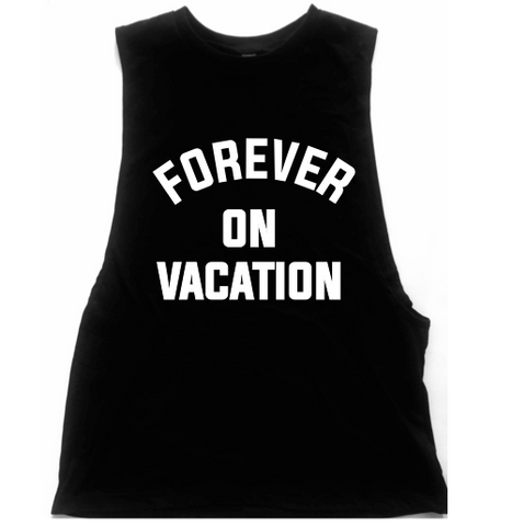 Forever On Vacation Unisex Low Armhole Muscle Tank