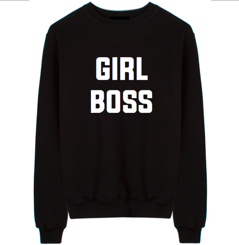 Girl Boss Unisex Crew Neck Sweatshirt