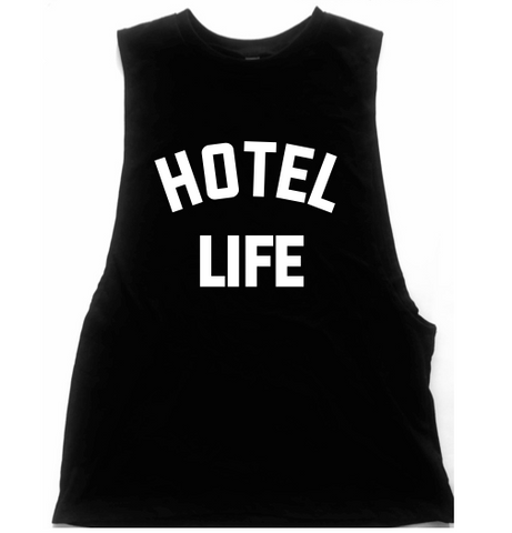Hotel Life Unisex Low Armhole Muscle Tank