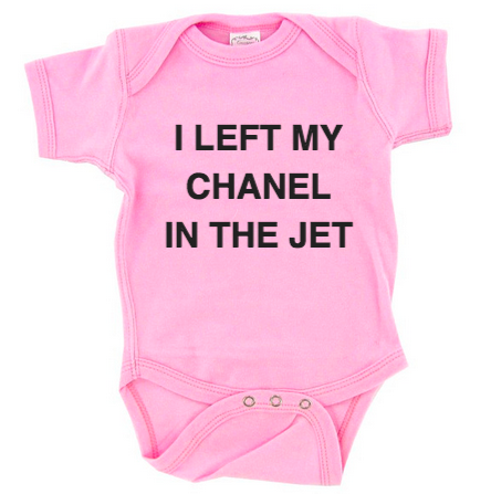 I Left My Chanel In The Jet Baby Onesie