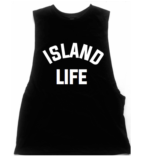 Island Life Unisex Low Armhole Muscle Tank