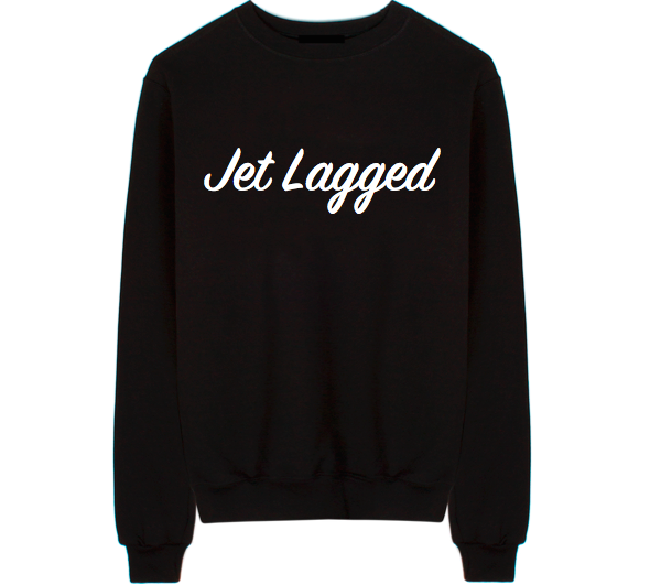 Jet Lagged Unisex Crew Neck Sweatshirt