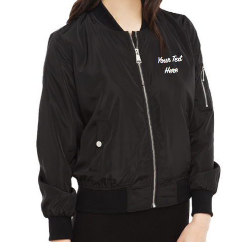 Personalized Custom LIGHTWEIGHT Bomber Jacket (Front Embroidery)