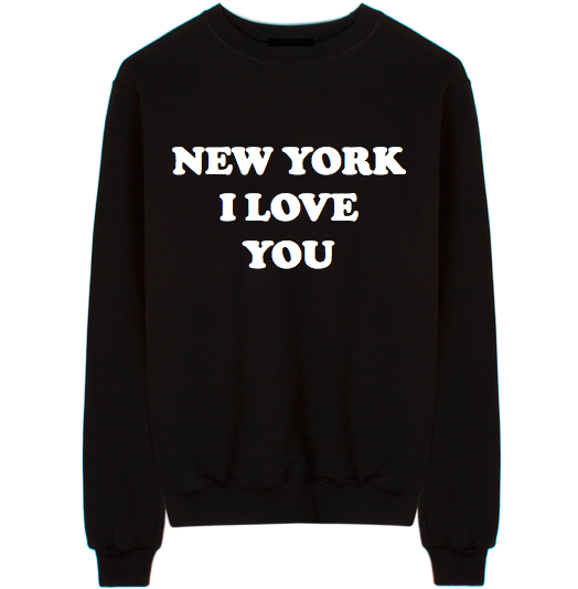 New York I Love You Unisex Crew Neck Sweatshirt