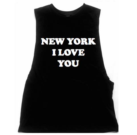New York I Love You Unisex Low Armhole Muscle Tank