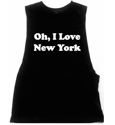 Oh, I Love New York Unisex Low Armhole Muscle Tank