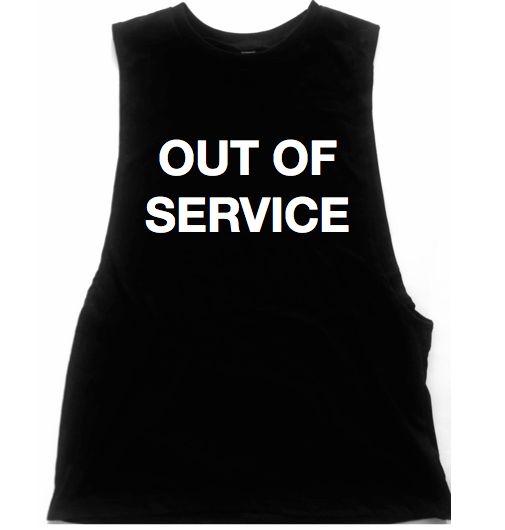 Out Of Service Unisex Low Armhole Muscle Tank