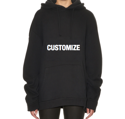 Personalized Oversized Hoodie (Large Front Print)