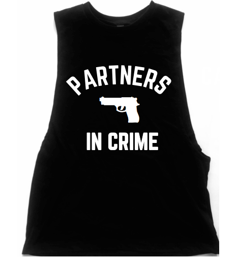Partners In Crime Unisex Low Armhole Muscle Tank