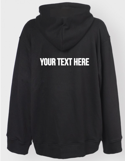 Personalized Oversized Hoodie (Back Print)