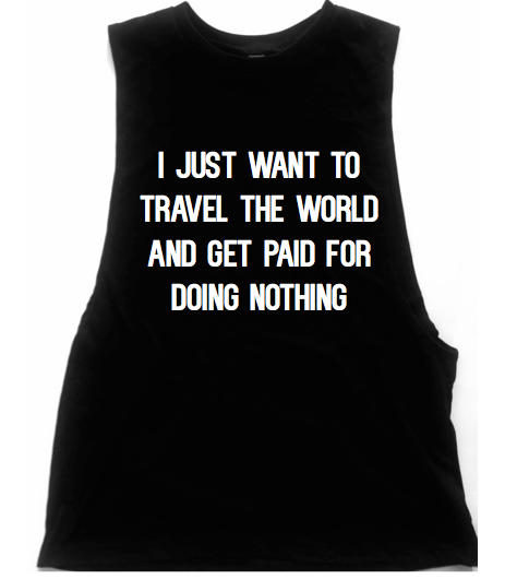 Travel The World Unisex Low Armhole Muscle Tank