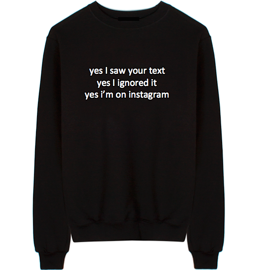 Yes I'm On Instagram Unisex Crew Neck Sweatshirt
