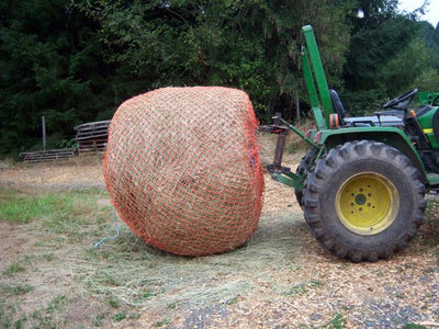 Round Bale on Tractor