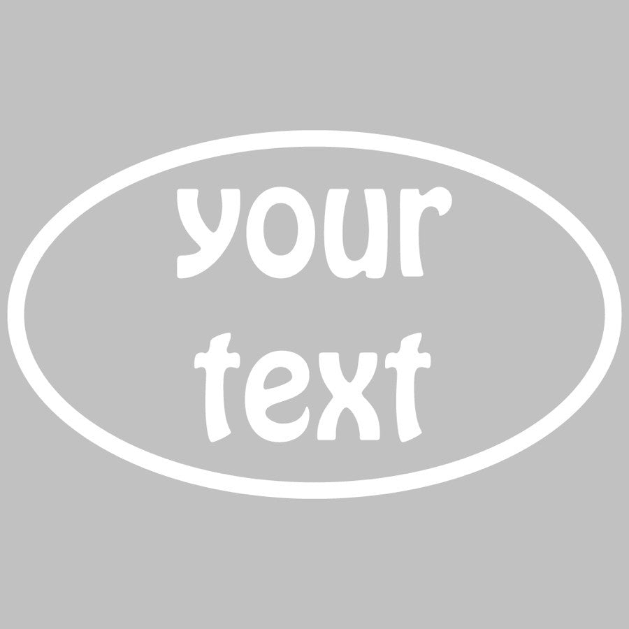 Oval: Custom Text