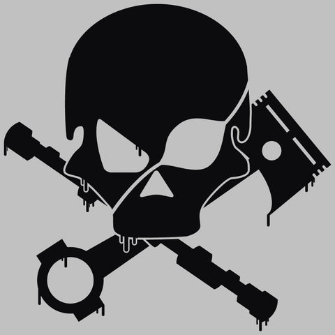 Skull, Piston and Camshaft