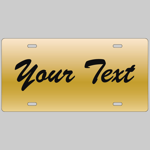 License Plate: Mirrored Gold