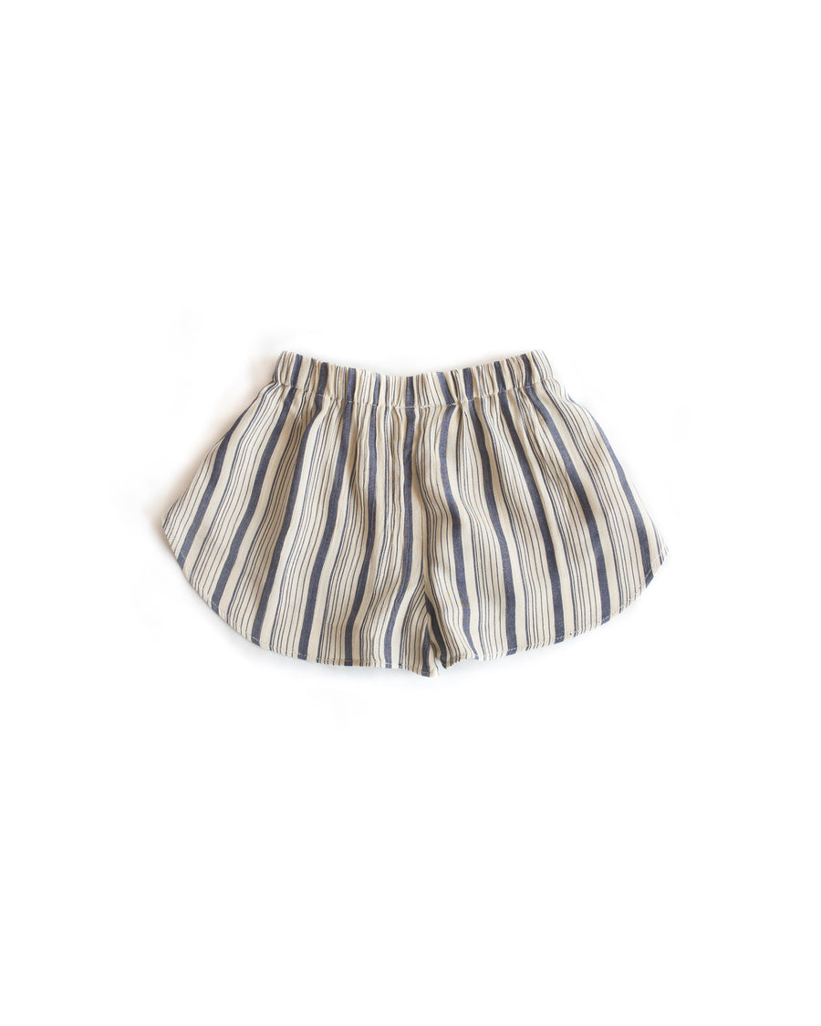 Pantai Short Linen Navy Stripe