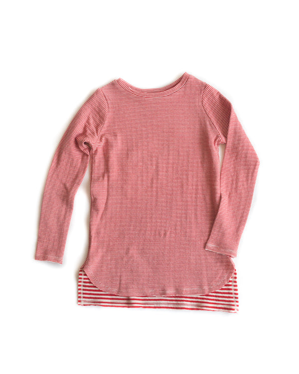 Tunic Red Pin Stripe
