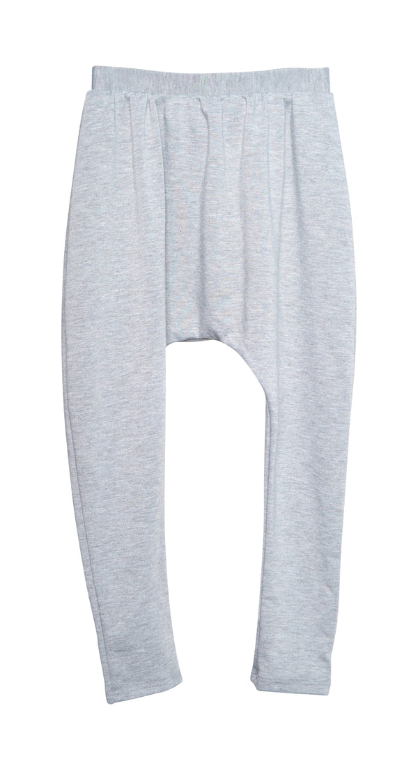 Harem Pant Gray French Terry