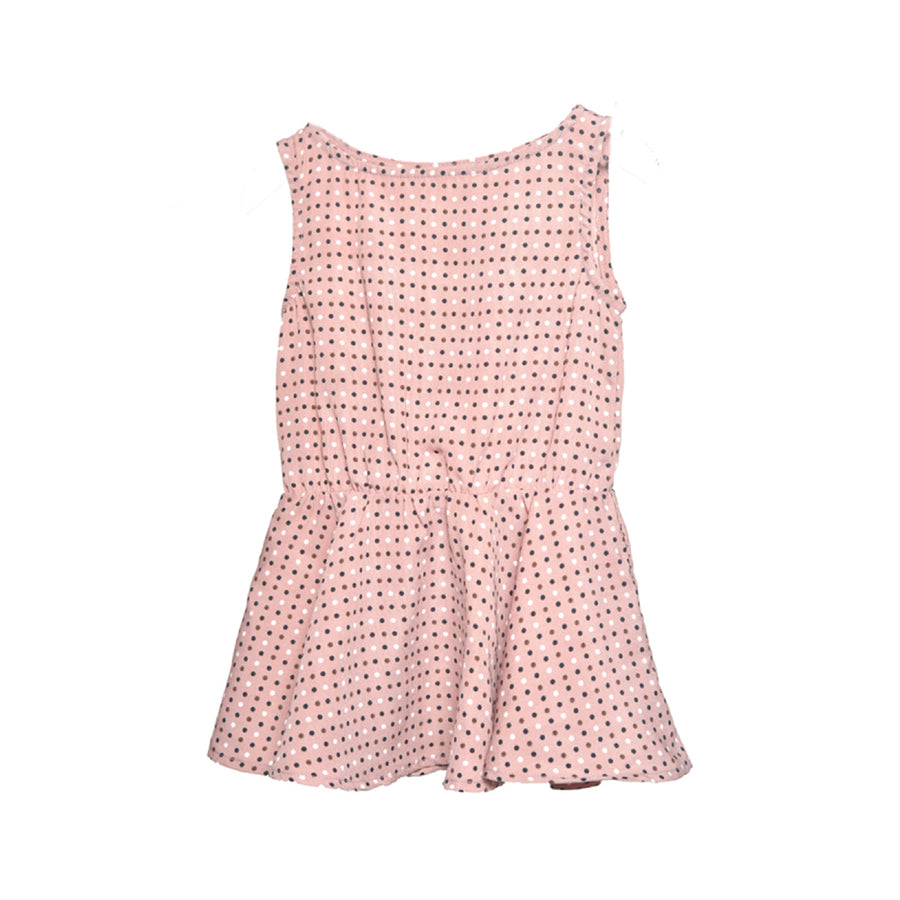 Fit & Flare Dress Rose Polkadot Chablis