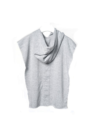 Hooded Poncho Gray French Terry