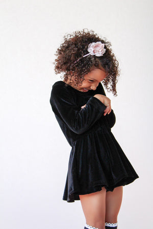 Fit & Flare Dress Smooth Black Velvet