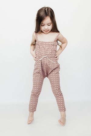 Drop Jumpsuit Rose Polkadot Chablis