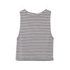 Pocket Tank Charcoal Stripe Jersey