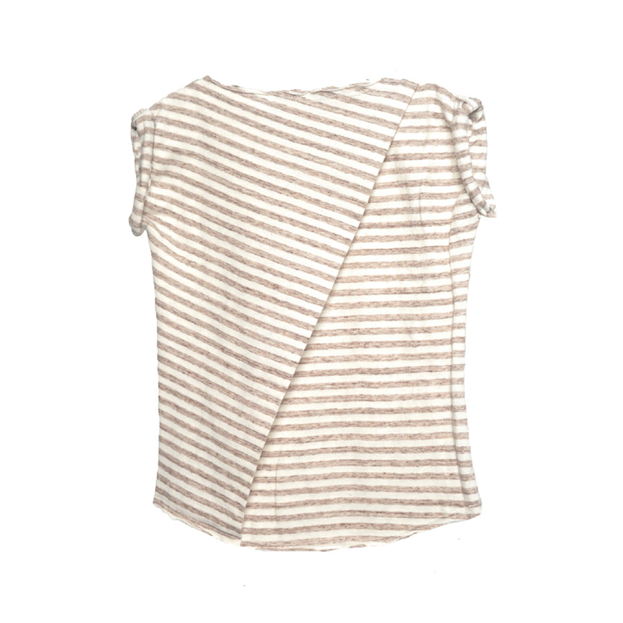 Rolled Tee Sand Stripe Jersey