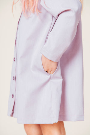 Mauve Coat Dress Pocket