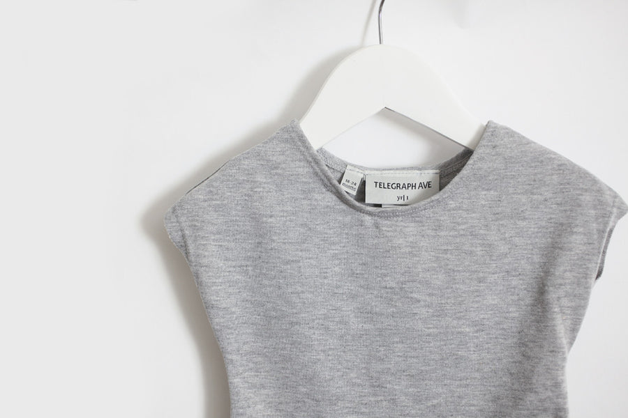 Singlet Tee Gray French Terry