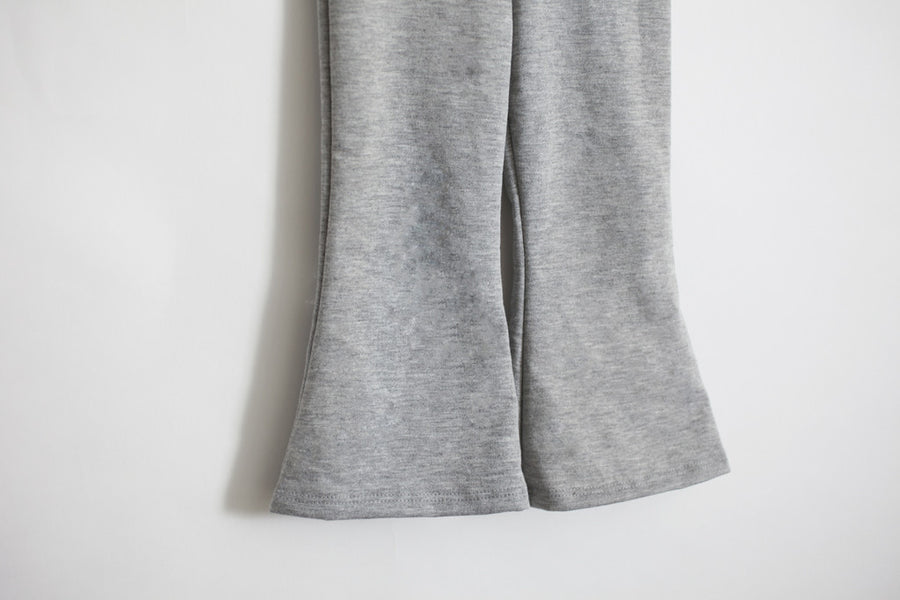 Bell Pants Gray French Terry