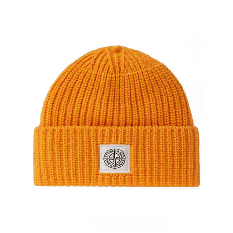 LAMBSWOOL BEANIE KNIT V0032 - ORANGE