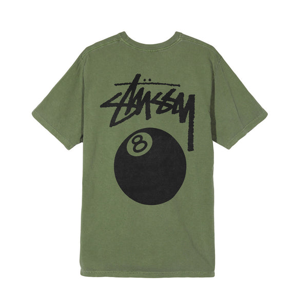 1904276ARMY 8 BALL PIG. DYED TEE - ARMY
