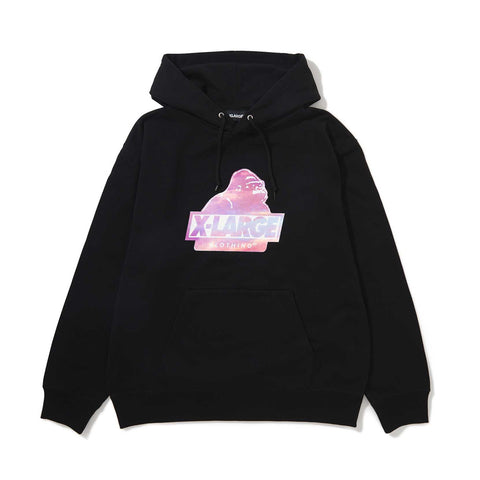 SUNSET SLANTED OG PULLOVER HOODED SWEAT 01191201 - BLACK
