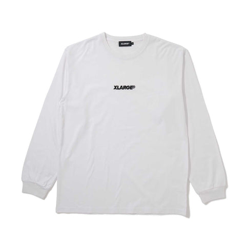 L/S TEE EMBROIDERY STANDARD LOGO 01191135 - WHITE