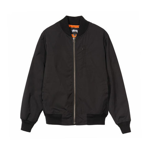 115407BLAC GLEN BOMBER JACKET - BLACK