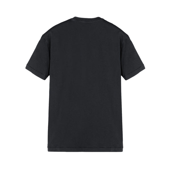 24141 Logo Plain T-Shirt V0029 - BLACK