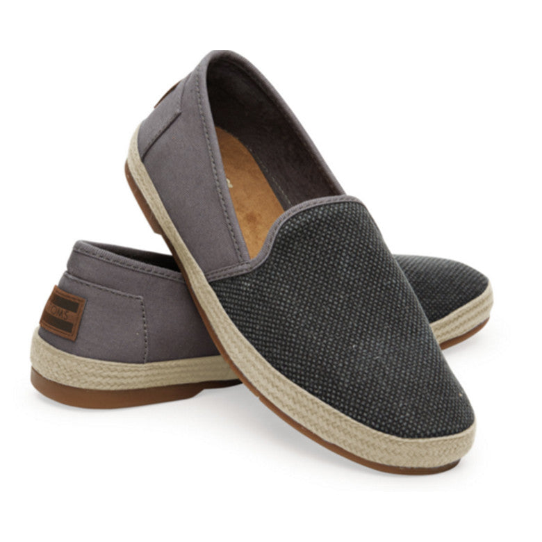 BLACK CANVAS TEXTURED WOMEN'S SABADOS