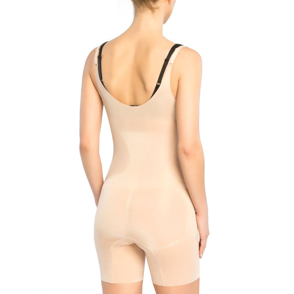 OnCore Open-Bust Mid-Thigh Bodysuit - Soft Nude