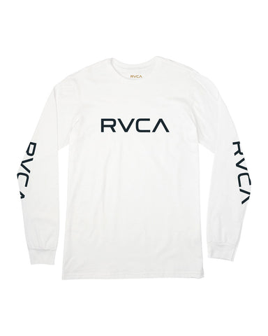 BIG RVCA LONG SLEEVE T-SHIRT BIG RVCA LS - white