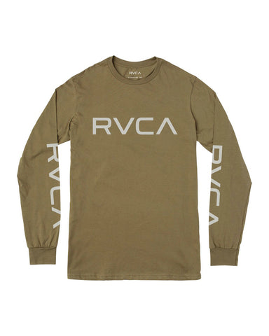 BIG RVCA LONG SLEEVE T-SHIRT BIG RVCA LS - cadet green